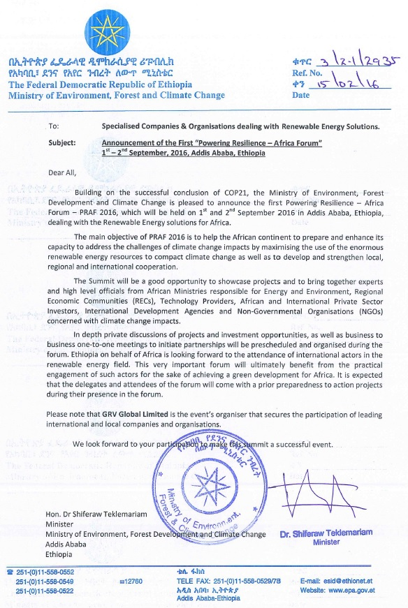 Grv Global  Powering Resilience  Official Letter